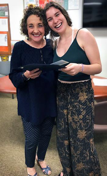 Mariel Barocas (r) with Head Guidance counselor Geraldine Nuzzo