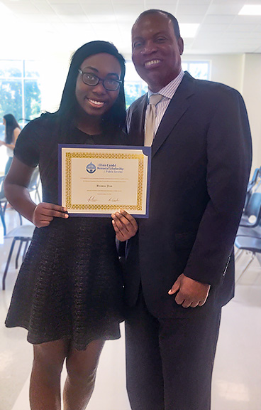 Brianna Jean with her father, Andre Jean