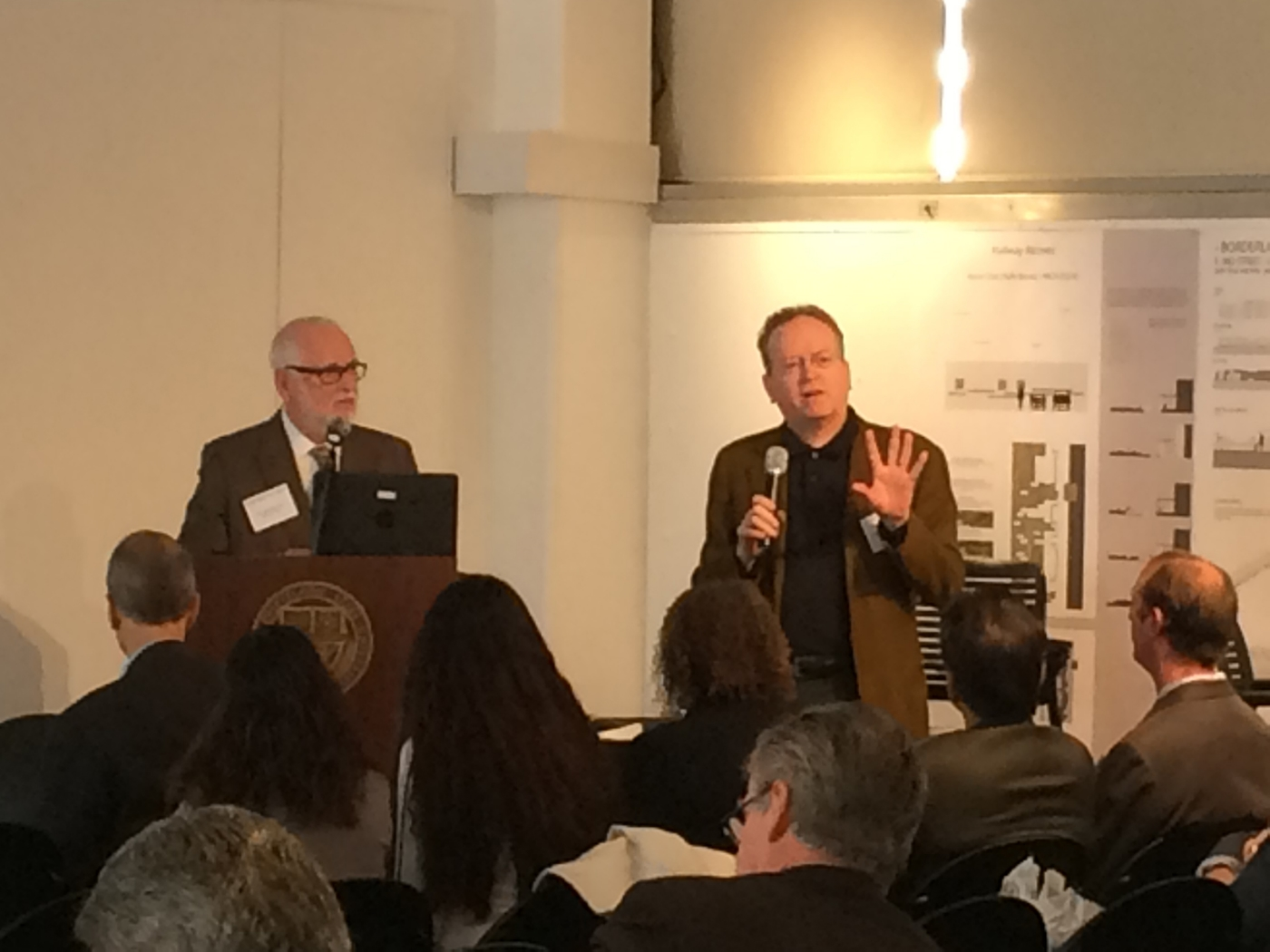 State Architect Chet Widom and Tim Culvahouse wrapping up DSA 7x7x7 Presentations