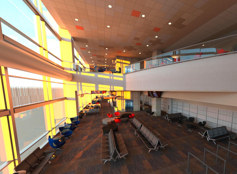 SFO International Terminal Gate Lounge  – San Francisco