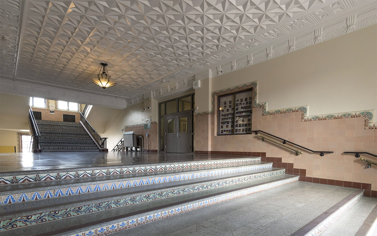 Restored Art Deco lobby