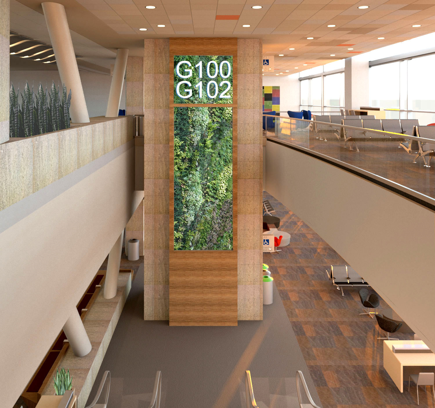 Living Wall Design for SFO ITB Hold Room Prototype