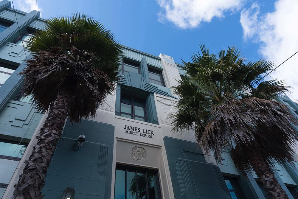 Restored Art Deco facades