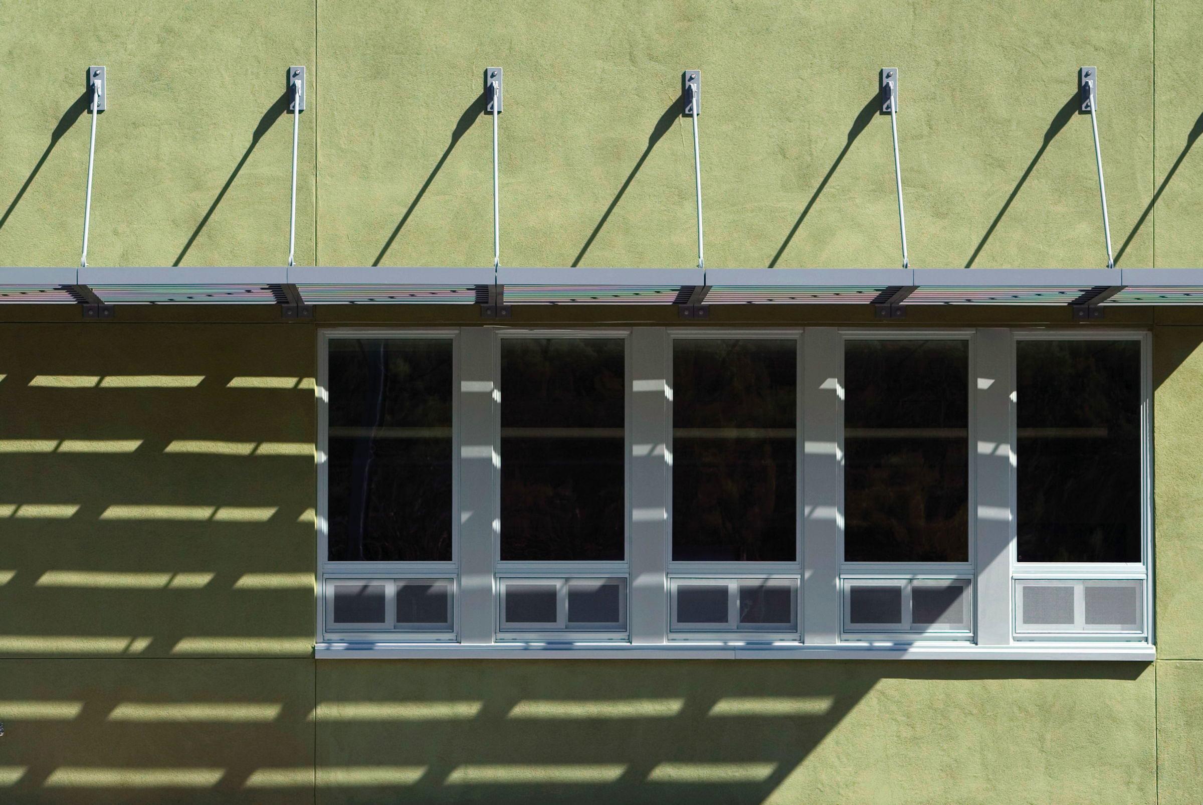 Sunshade blocks direct sunlight - provides natural daylighting