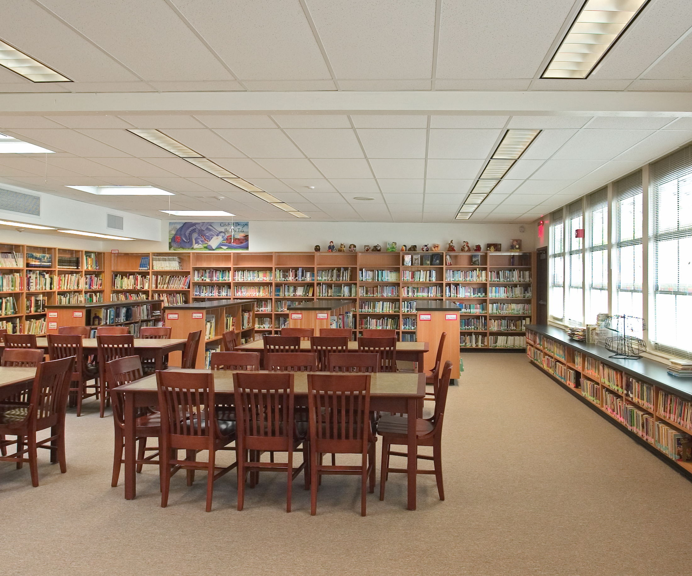Renovated Library / media center