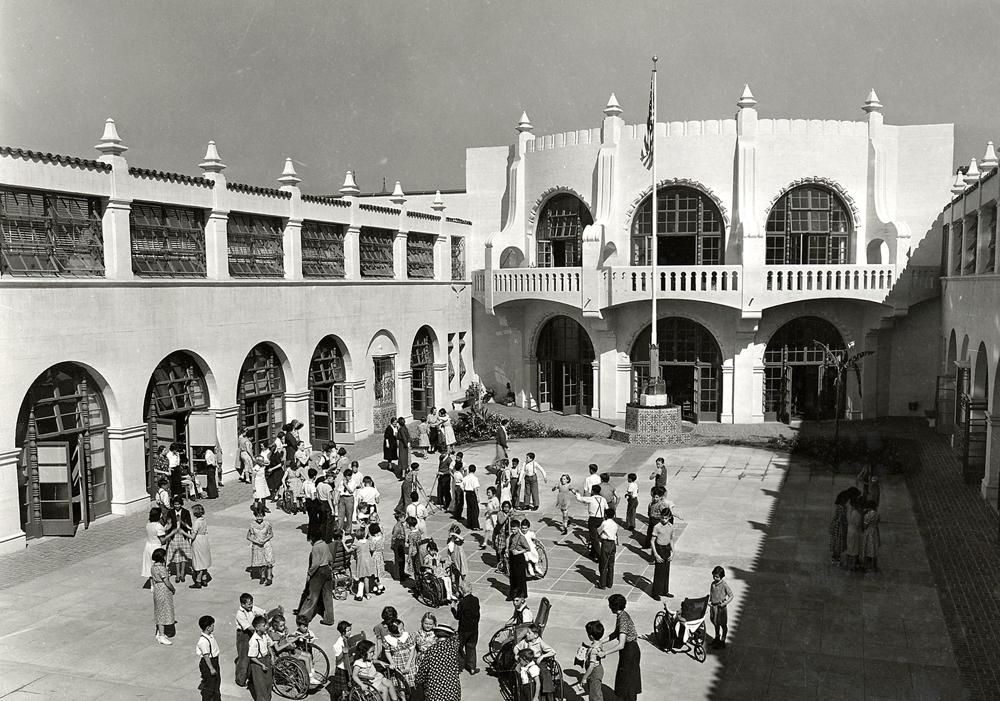 Historic courtyard