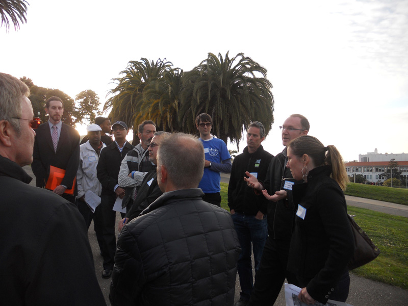 Community awareness walk through the old Dolores Park