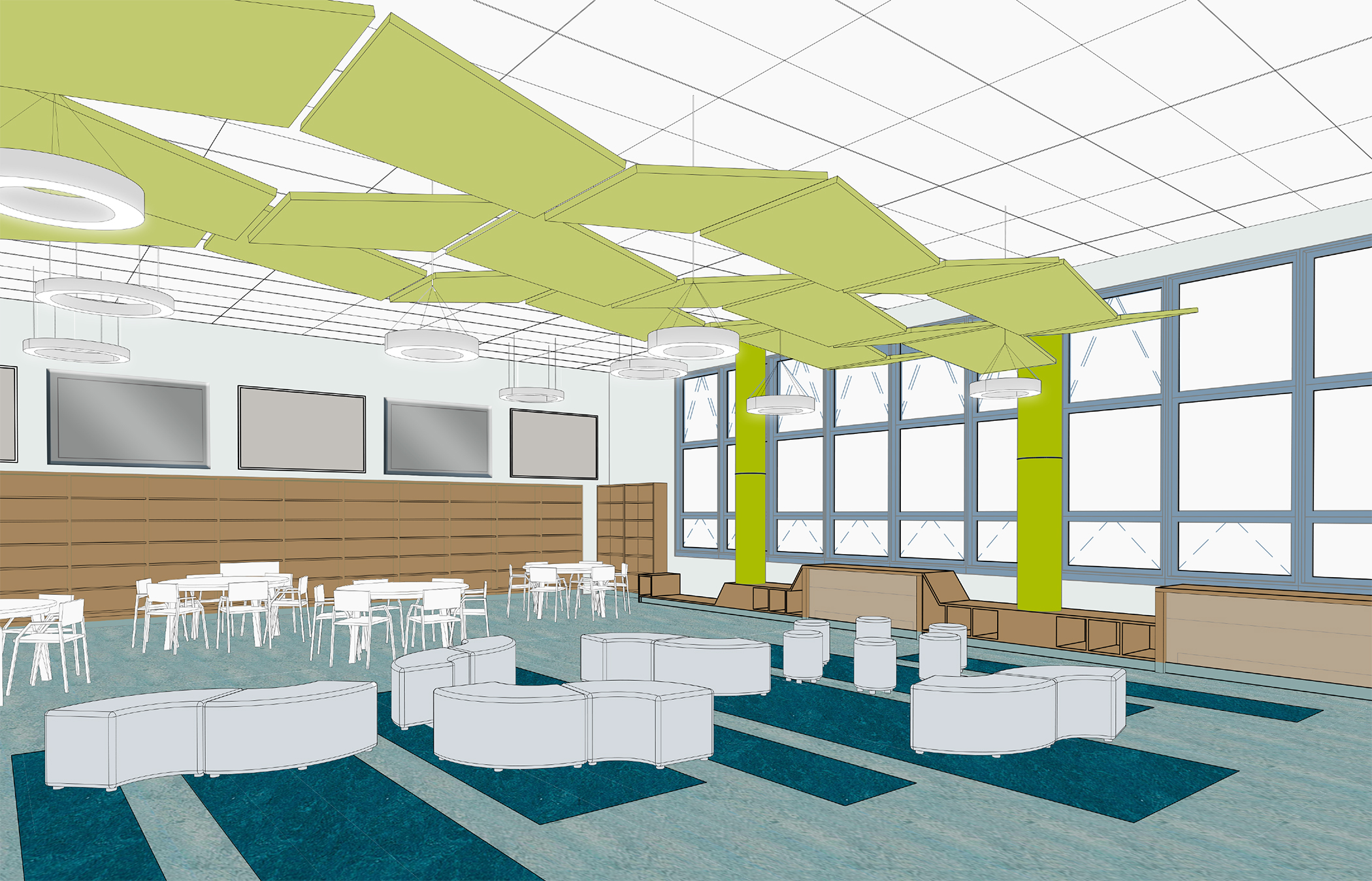 Library rendering – A.P. Giannini Middle School in San Francisco
