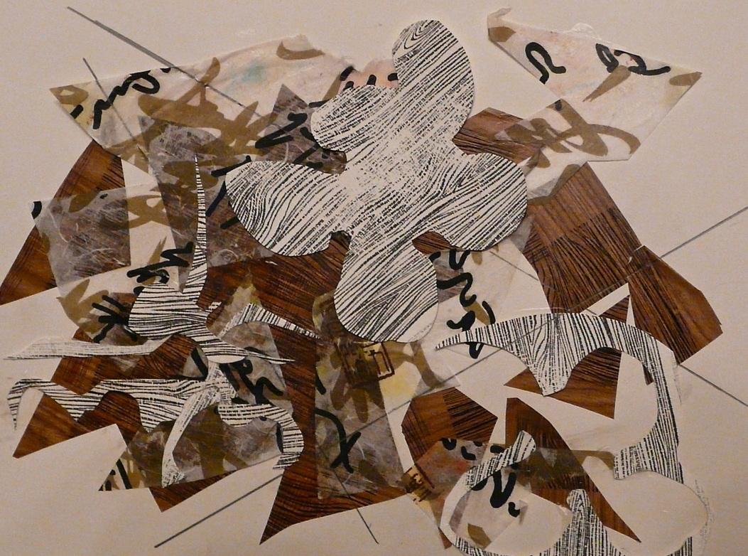 """Jazz  Fall 2011 Cut paper, pencil & stencils on paper 14"""" x 11"""""""
