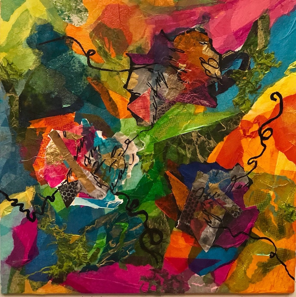 """Tissue Paper on Parade  2019 Assorted papers 18"""" x 18"""""""