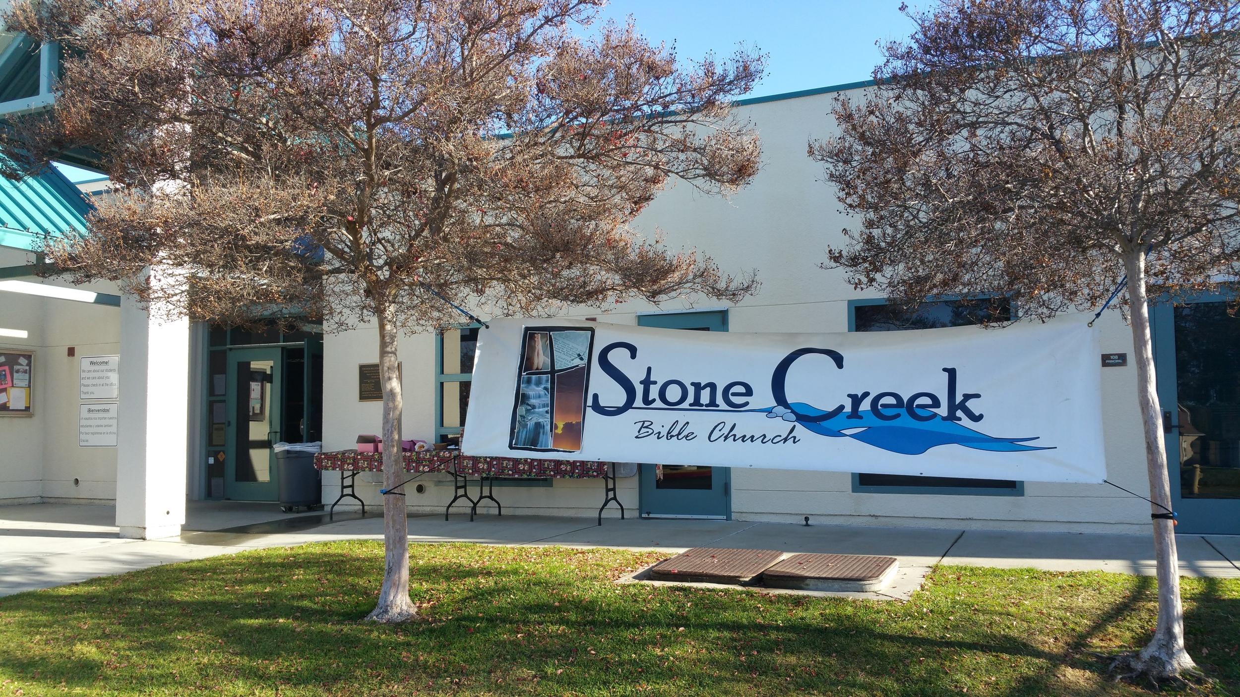 Stone creek bible church, Temecula, CA. Meets at Vintage hills elementary school