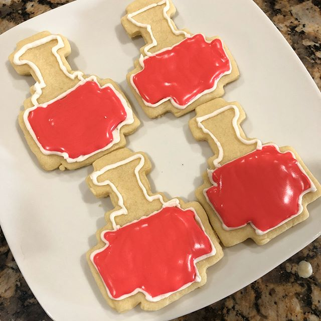 I made some Minecraft cookies lol