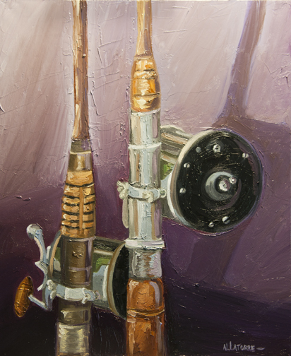 My Father's Fishing Rods (SOLD)