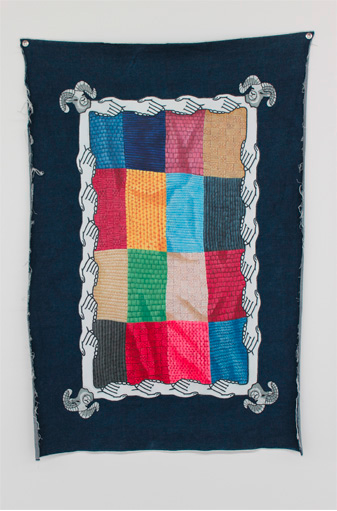 Dyers and Weavers Union, Denimism @West Space. Oil on denim, 2012