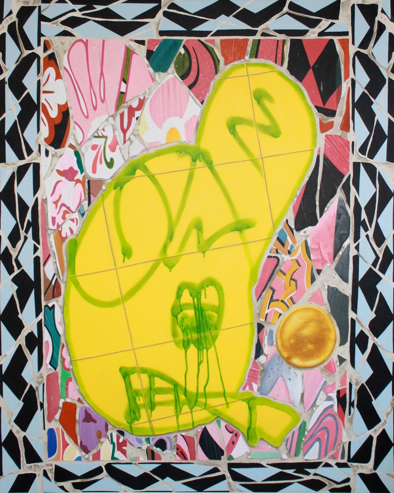 'Smokes &', Gertrude Contemporary 2014. Oil on canvas.