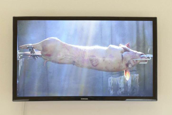 'Smokes &' video install, Gertrude Contemporary 2014. Video still.