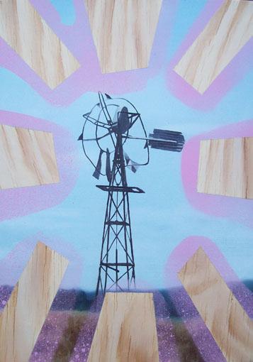 Woodwind, Jewel of the Newell @Firstdraft, oil on board, 2010