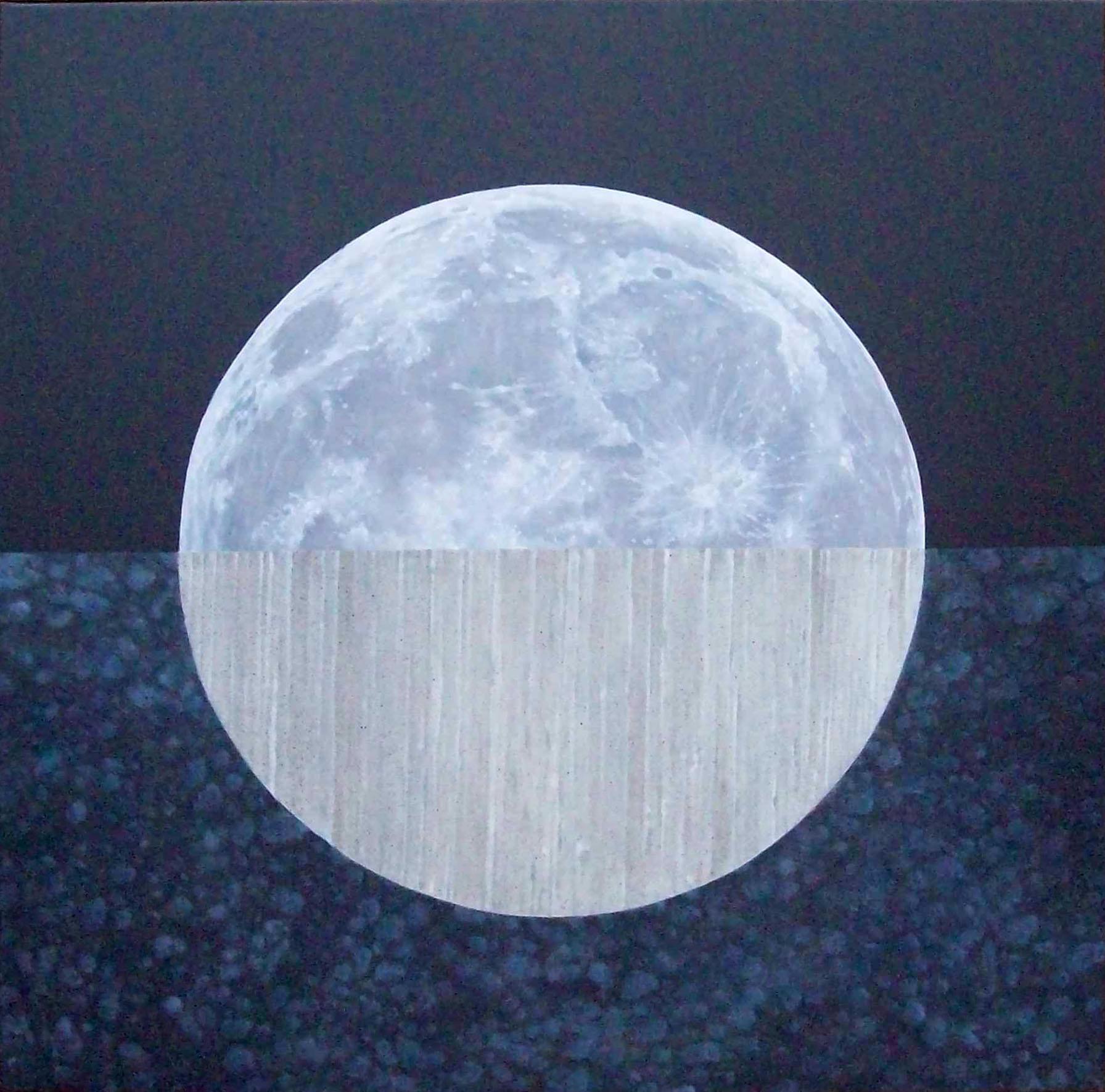 Moon, Head Under Ground, oil on canvas, 2010