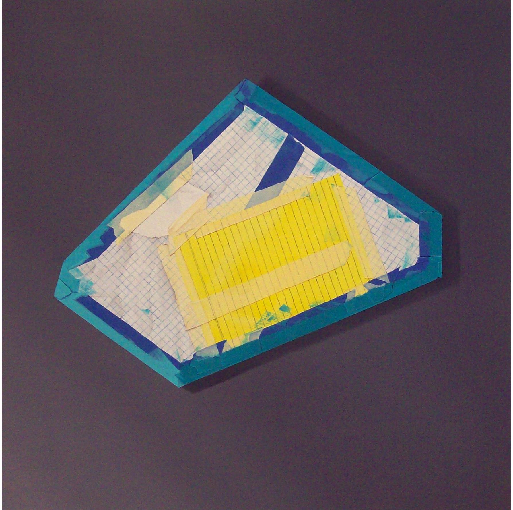 Blue Debris, oil on canvas, 2008