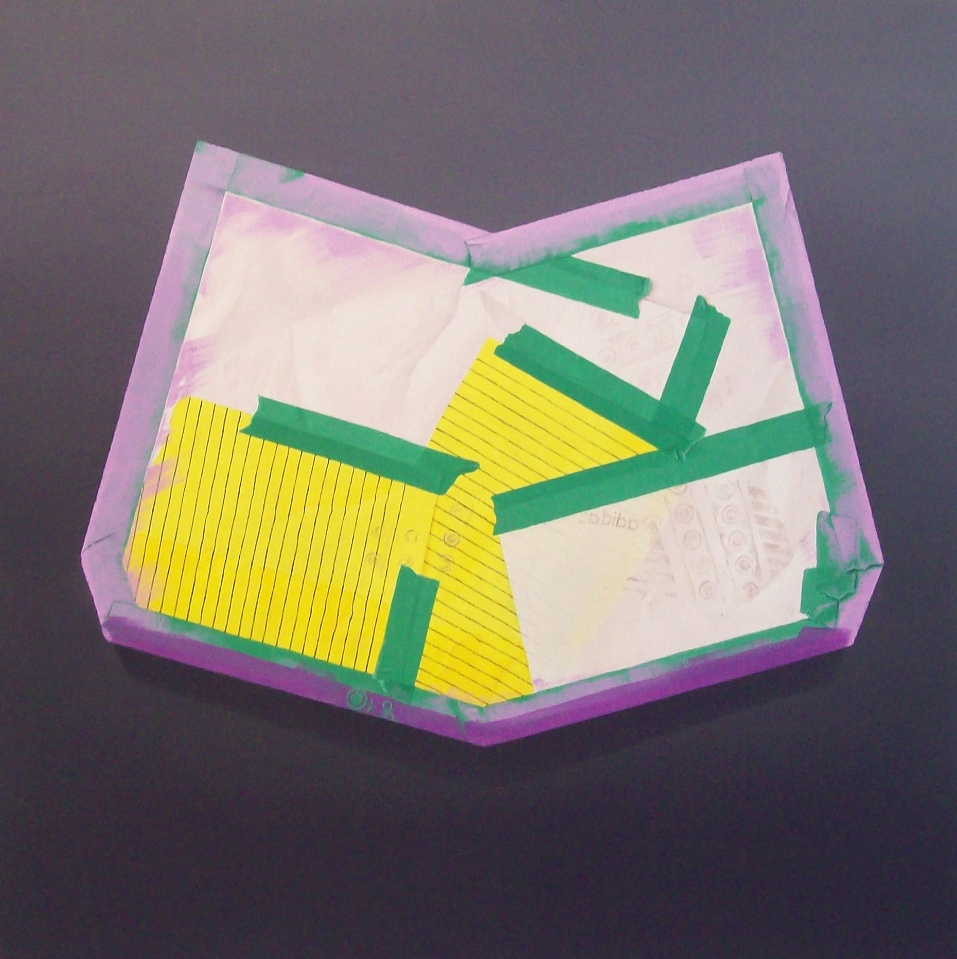 Purple debris, oil on canvas, 2008