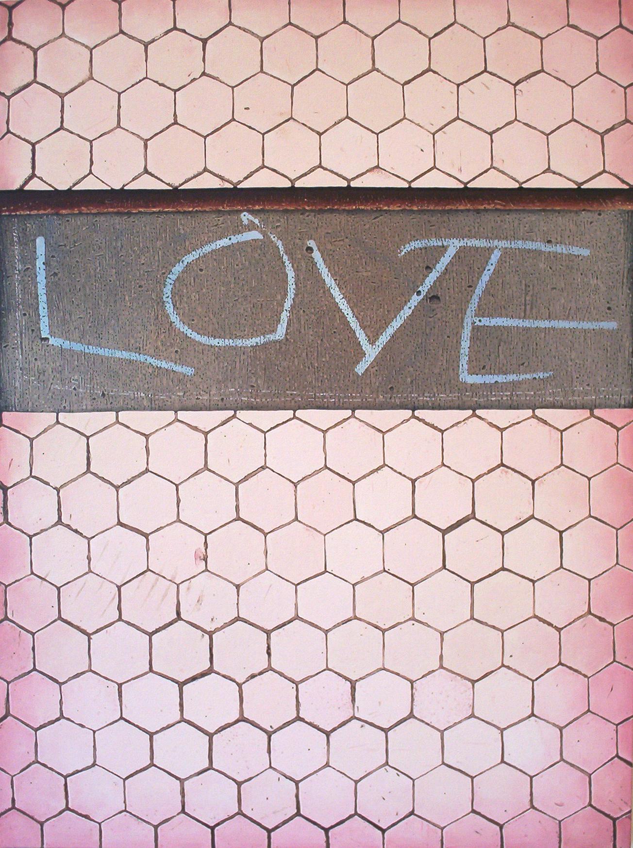 LOVE, oil on canvas, 2007