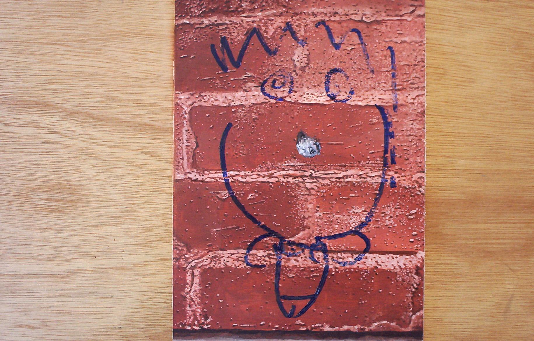 Doodle Head, oil on board, 2007