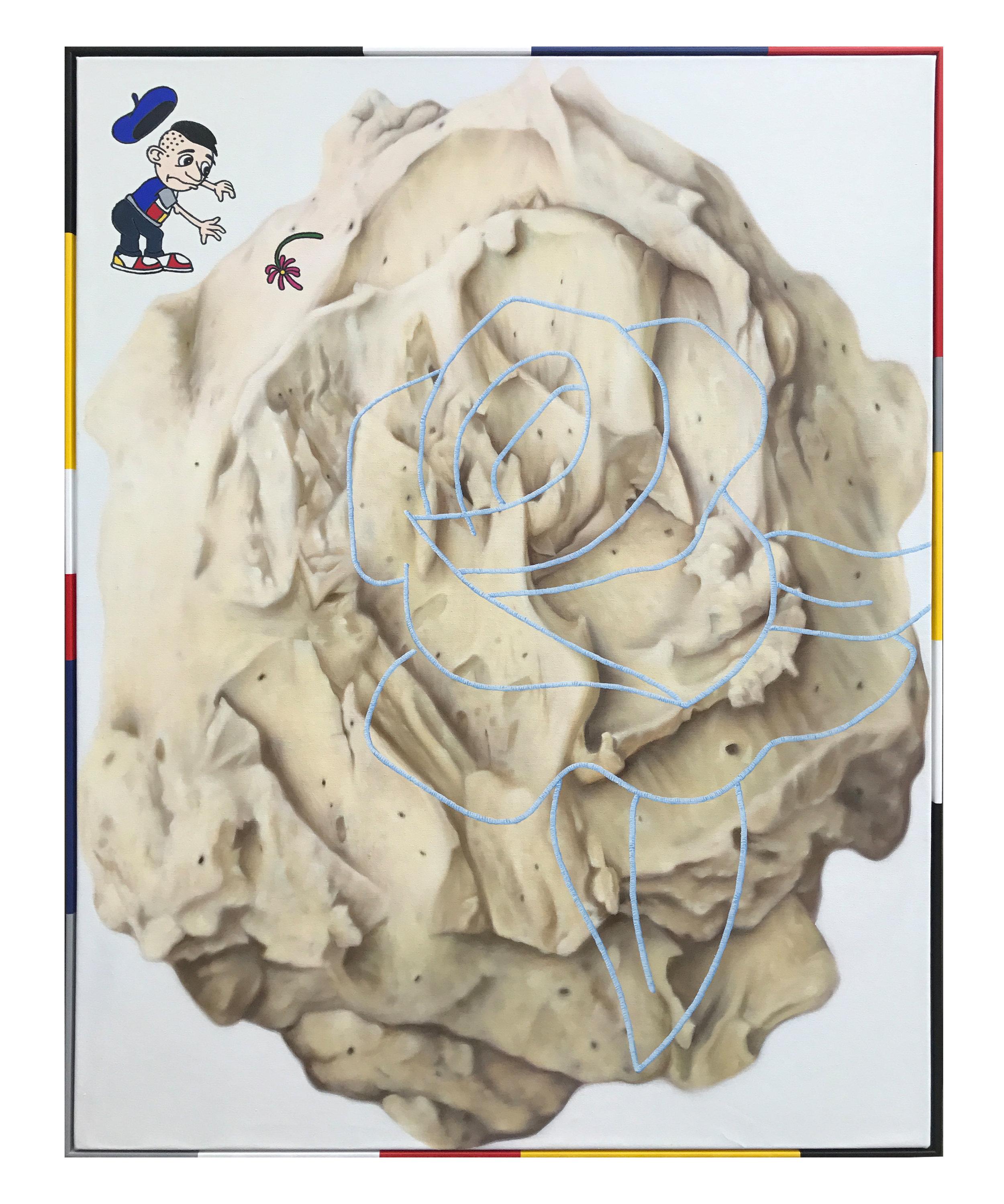 'Rose', oil on canvas, artist frame. 123 x 93cm. 2017