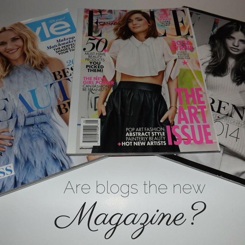 Are Blogs the New Magazine?   Tall Girl Meets World
