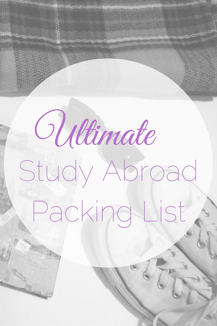 Ultimate Study Abroad Packing List   Tall Girl Meets World