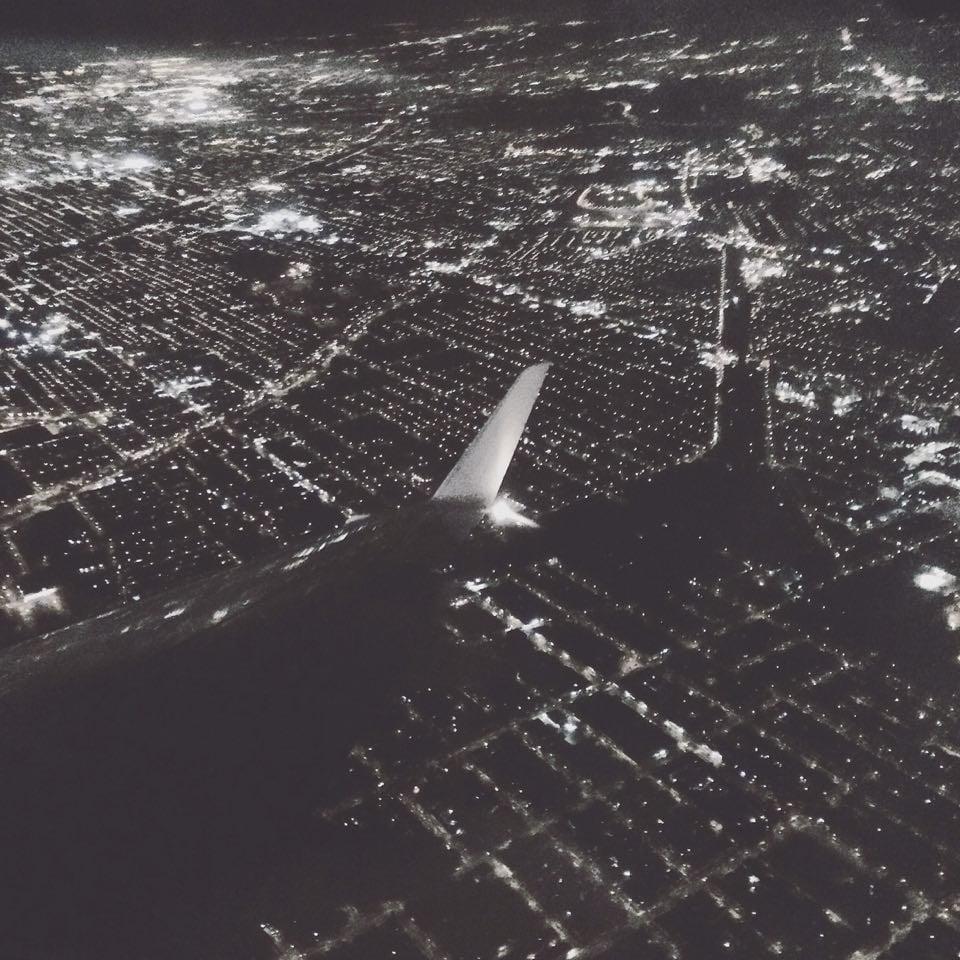 Flying into Philadelphia