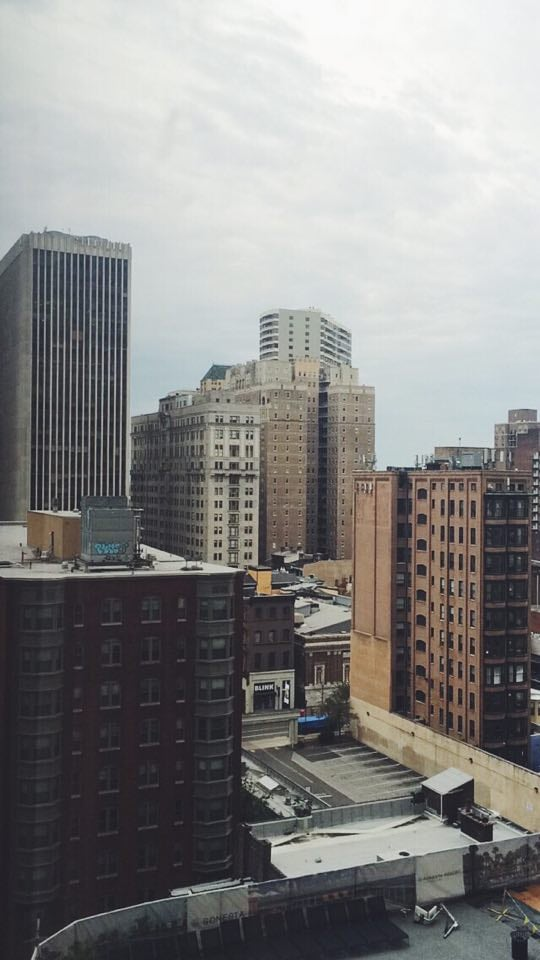 The view from my hotel in Philadelphia