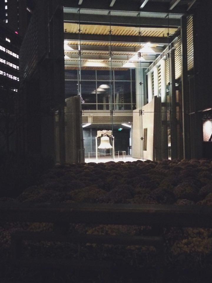 View of the Liberty Bell from a Distance at Night