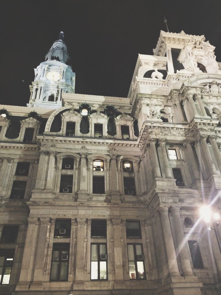 Building in the Evening | Tall Girl Meets World