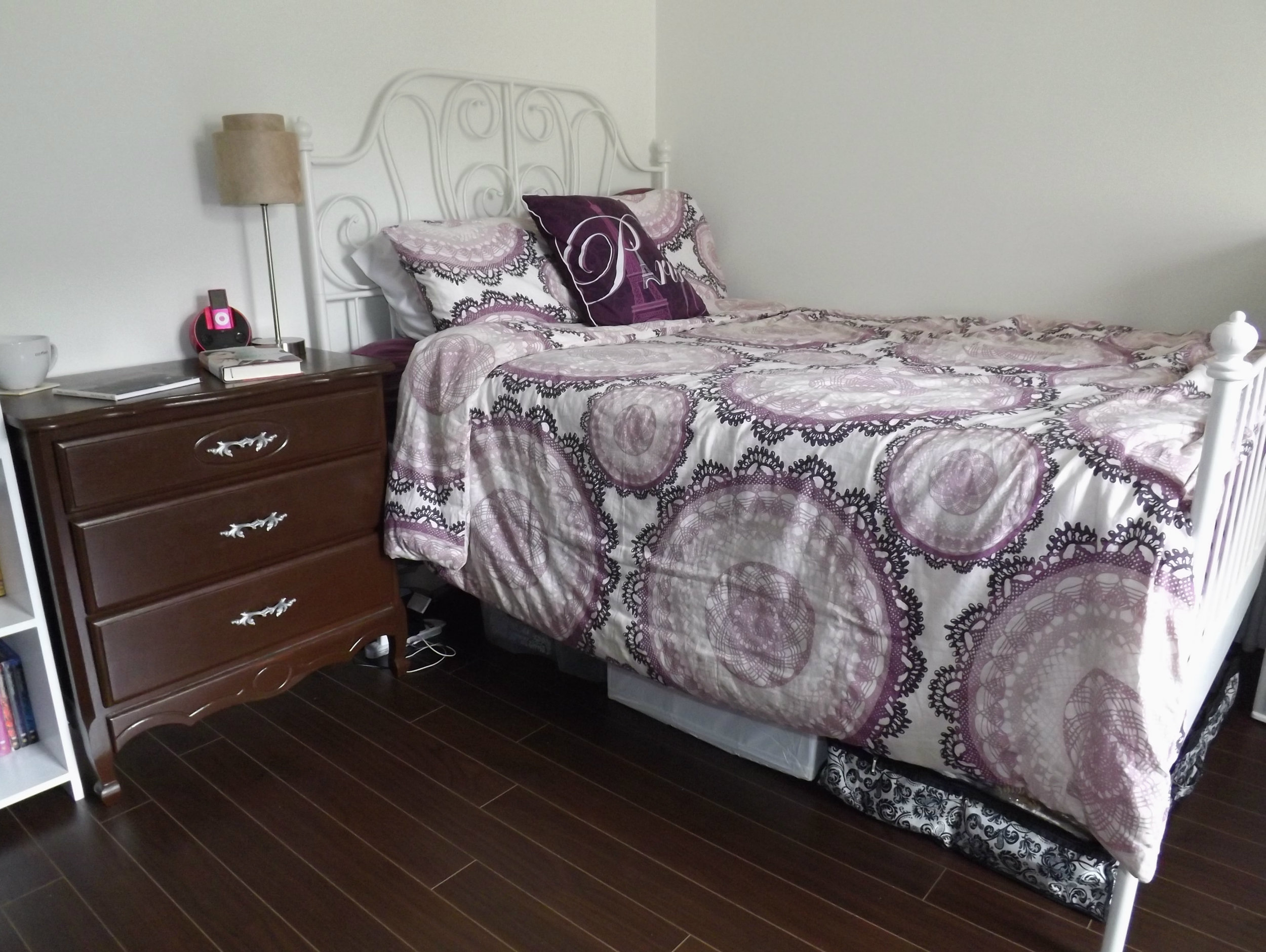 Patterned Bed | Tall Girl Meets World