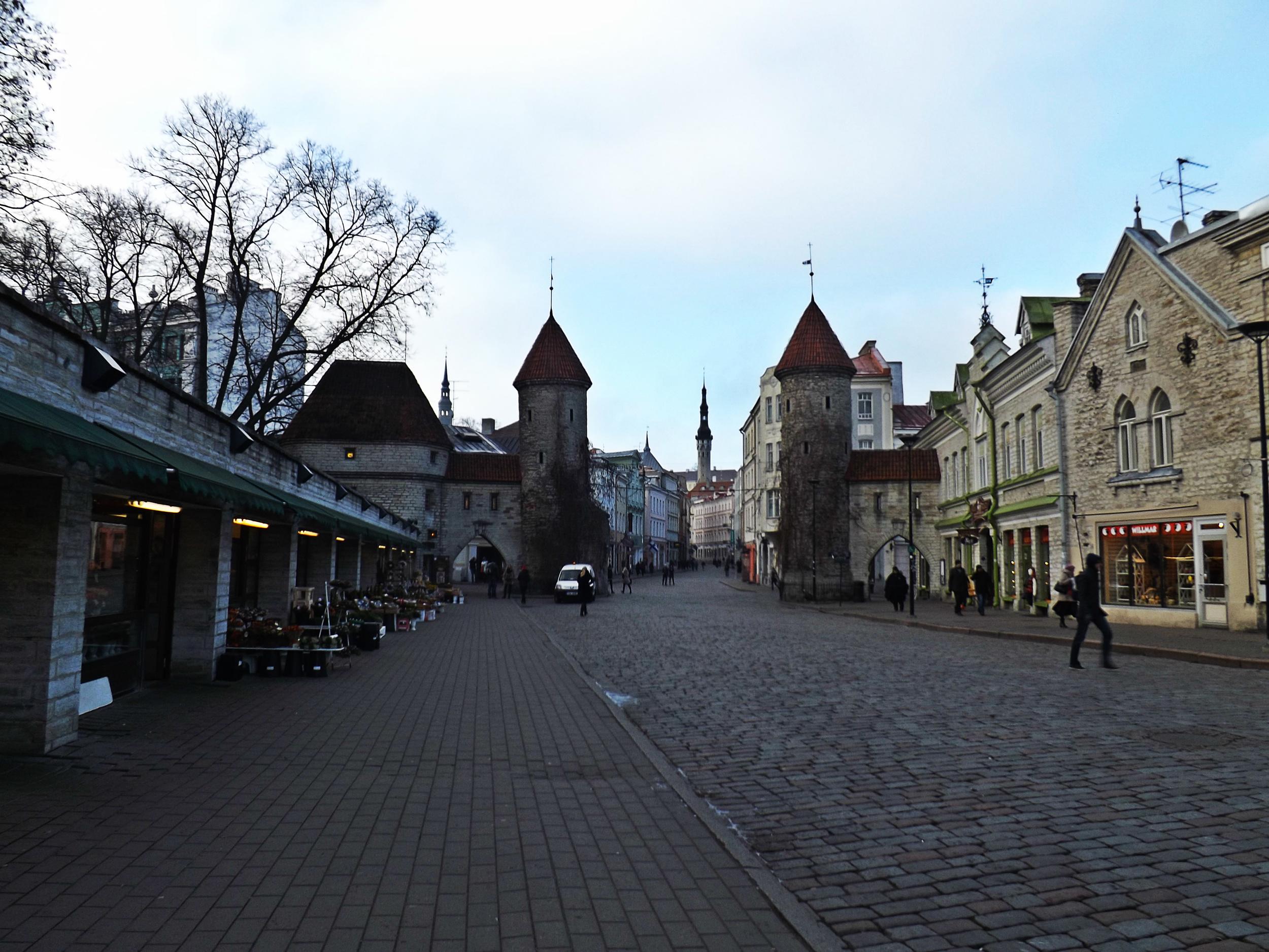 Walkway in Tallinn | Tall Girl Meets World