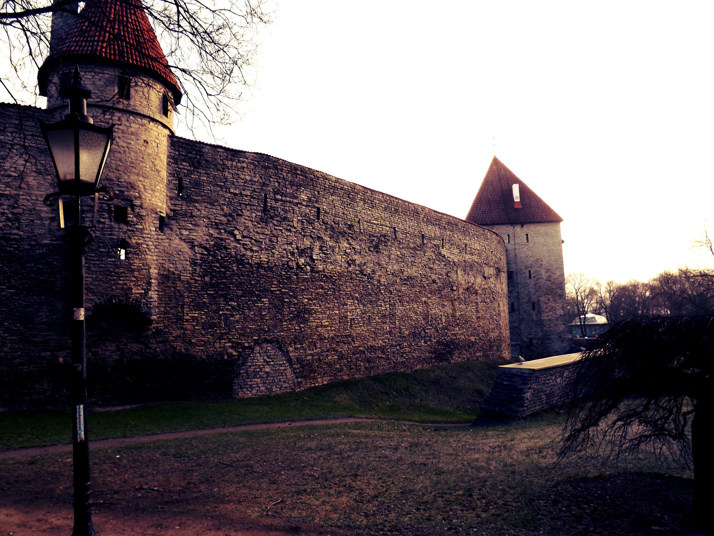 Tallinn Wall and Lamppost | Tall Girl Meets World