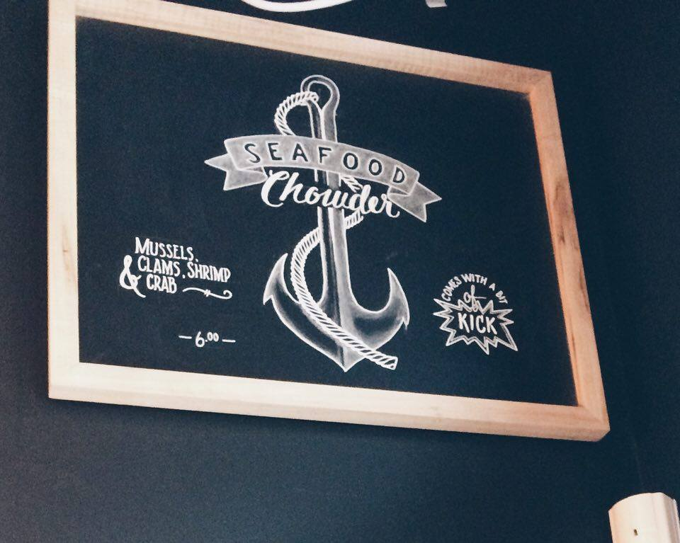Seafood Chowder Sign | Tall Girl Meets World