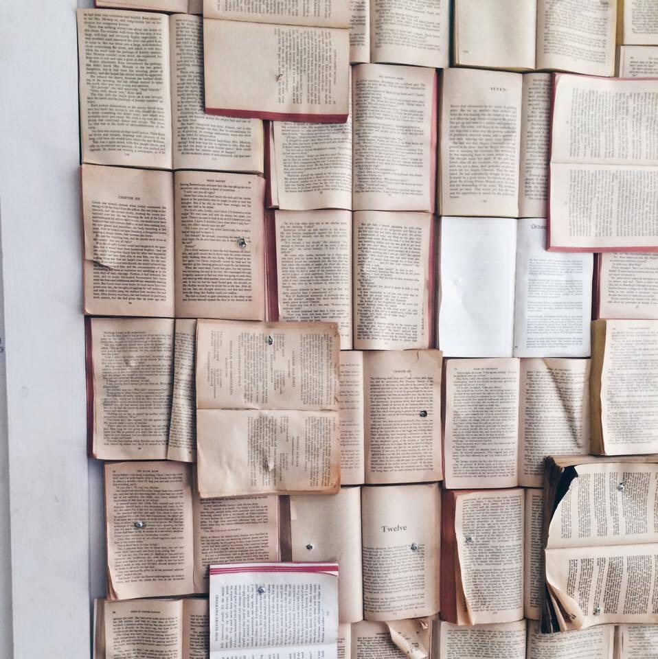 Book Wall at Fika Cafe | Tall Girl Meets World