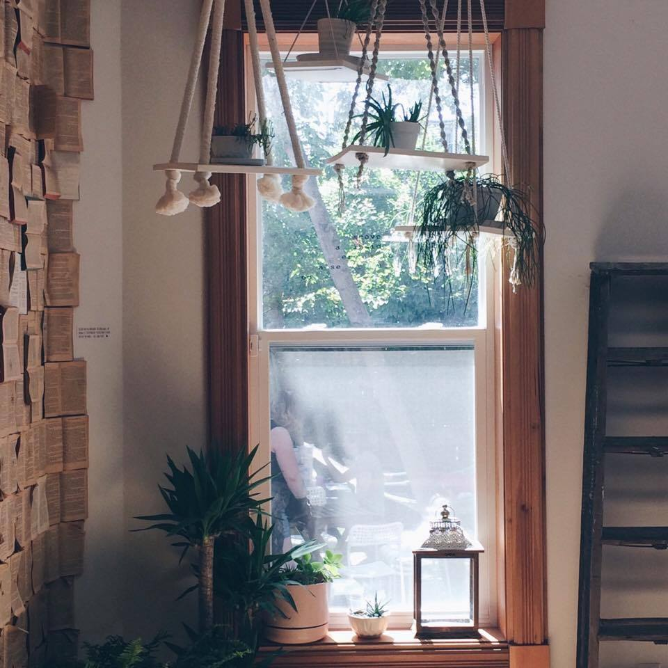 Macrame Hanging Planters at Fika Cafe | Tall Girl Meets World