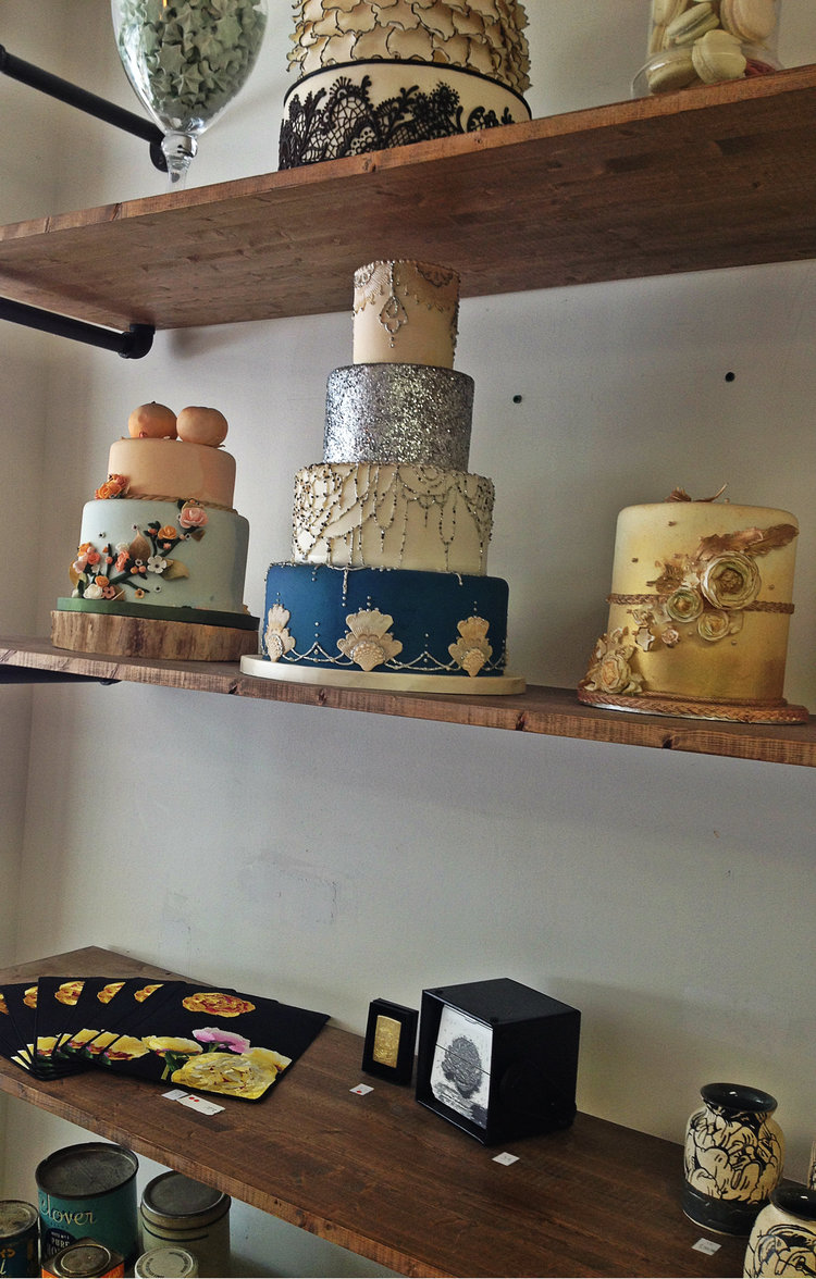 Side of Cake Display at Honey Bake Shop | Tall Girl Meets World