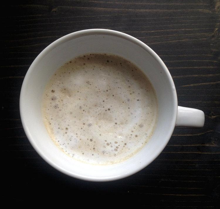 Homemade Latte in White Mug | Tall Girl Meets World