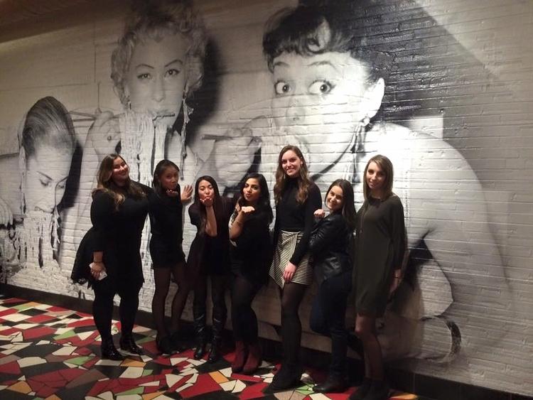 Kaitlyn with friends at Badali Bar and Cucina   Tall Girl Meets World