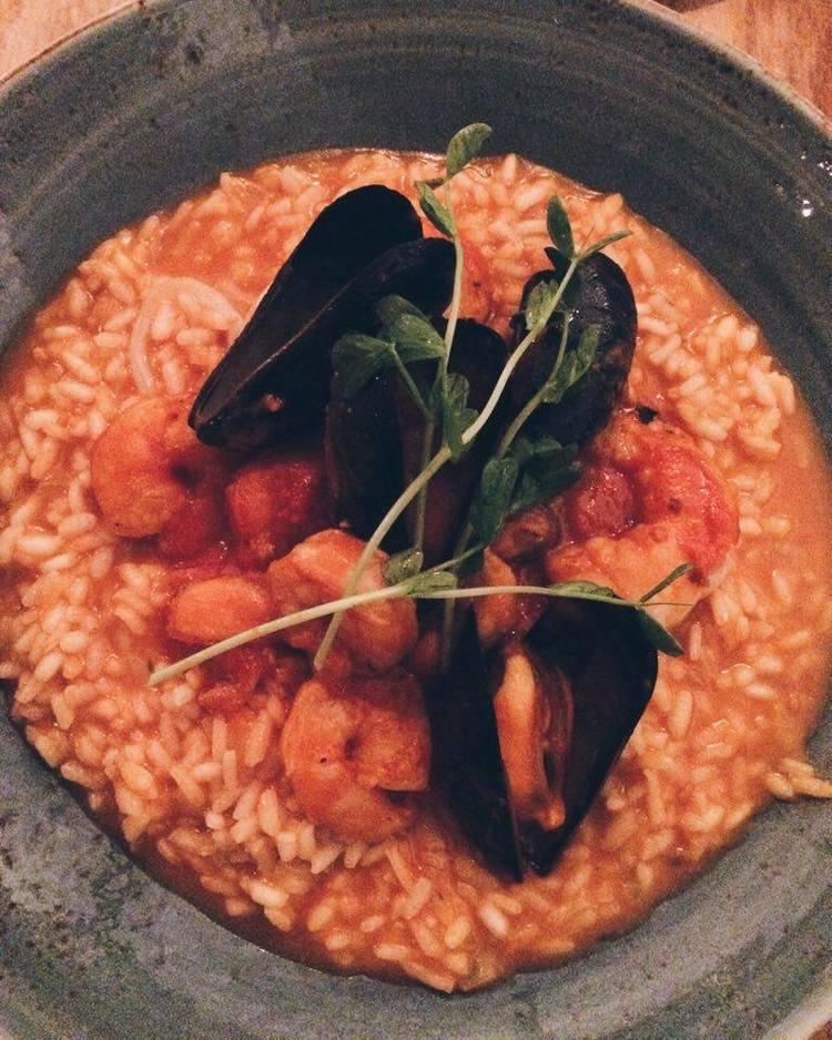 Cibo Seafood Risotto | Tall Girl Meets World