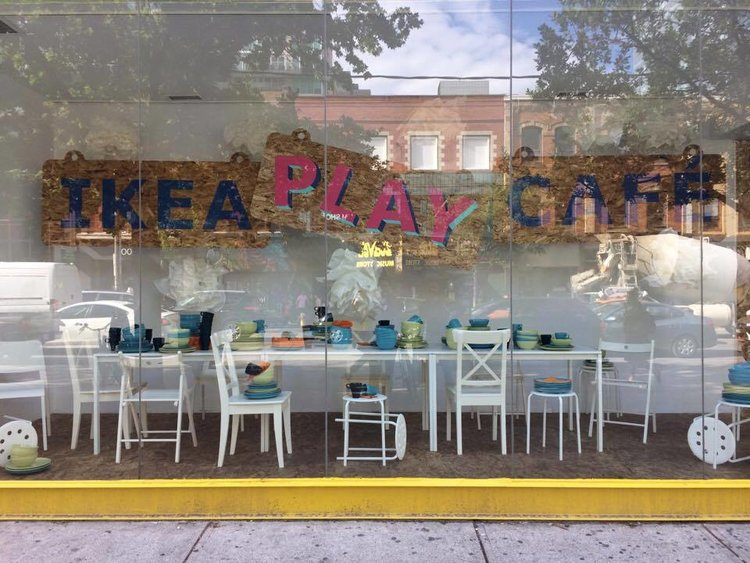 Outside of the IKEA Play Cafe | Tall Girl Meets World