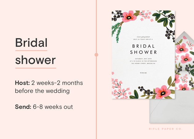 Bridal shower invite guideline from Paperless Post