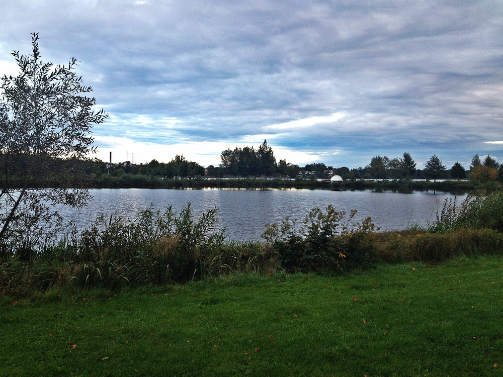 This is the amazing lake view we bike by every day on the way to campus. It's so breathtakingly gorgeous.