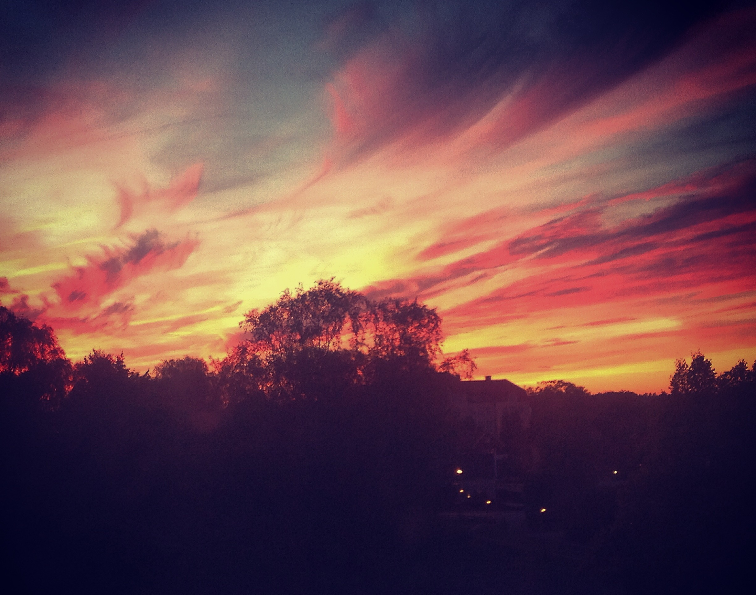 Fiery Växjö Sky | Tall Girl Meets World