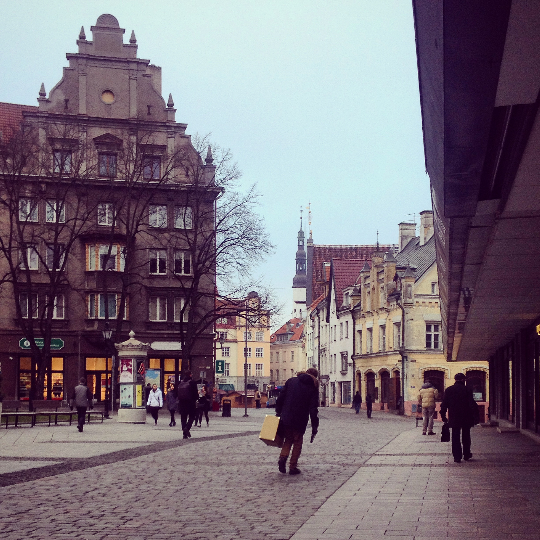 Historic Estonian Street | Tall Girl Meets World