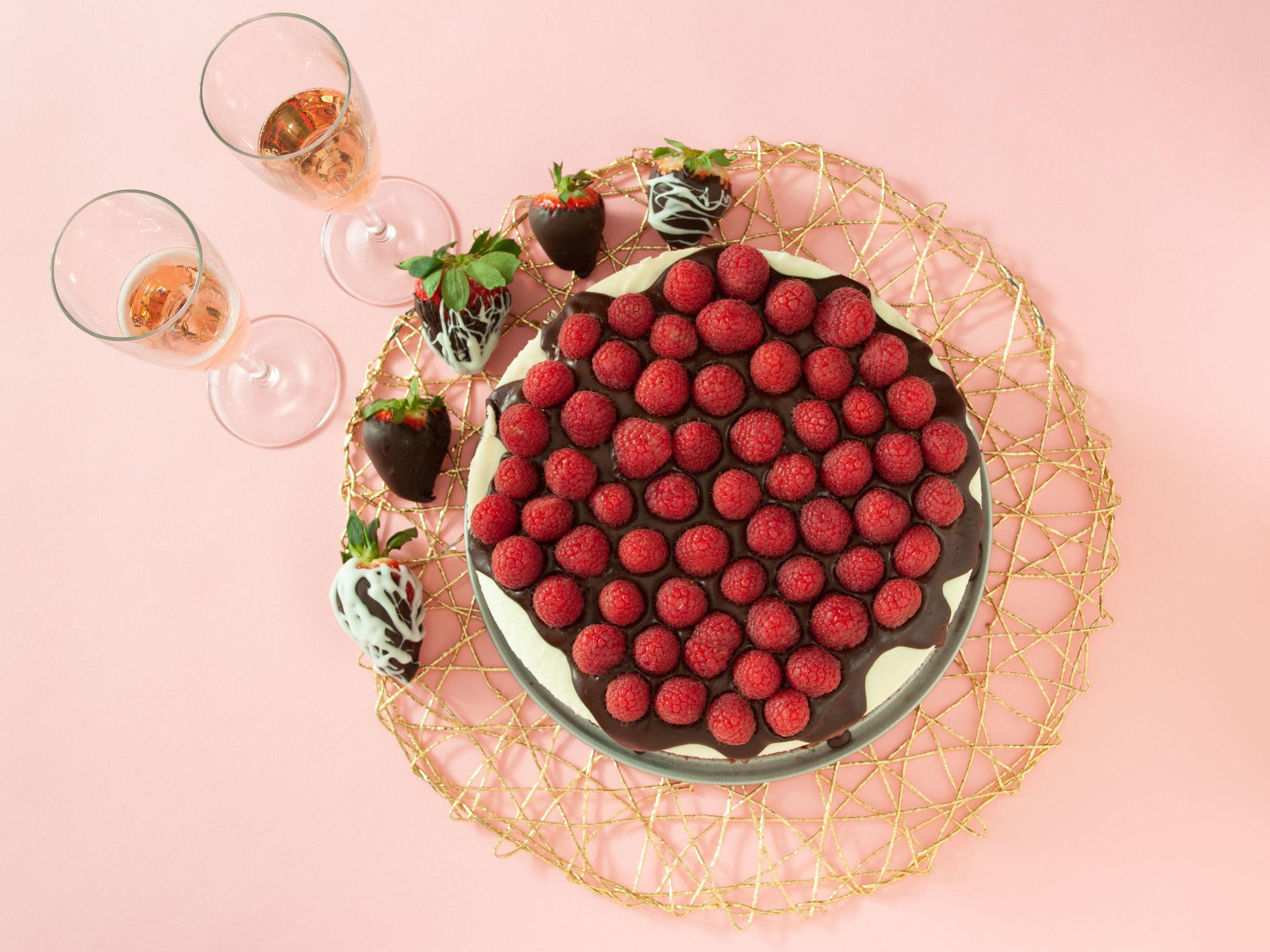 Raspberry Chocolate Cheese Cake