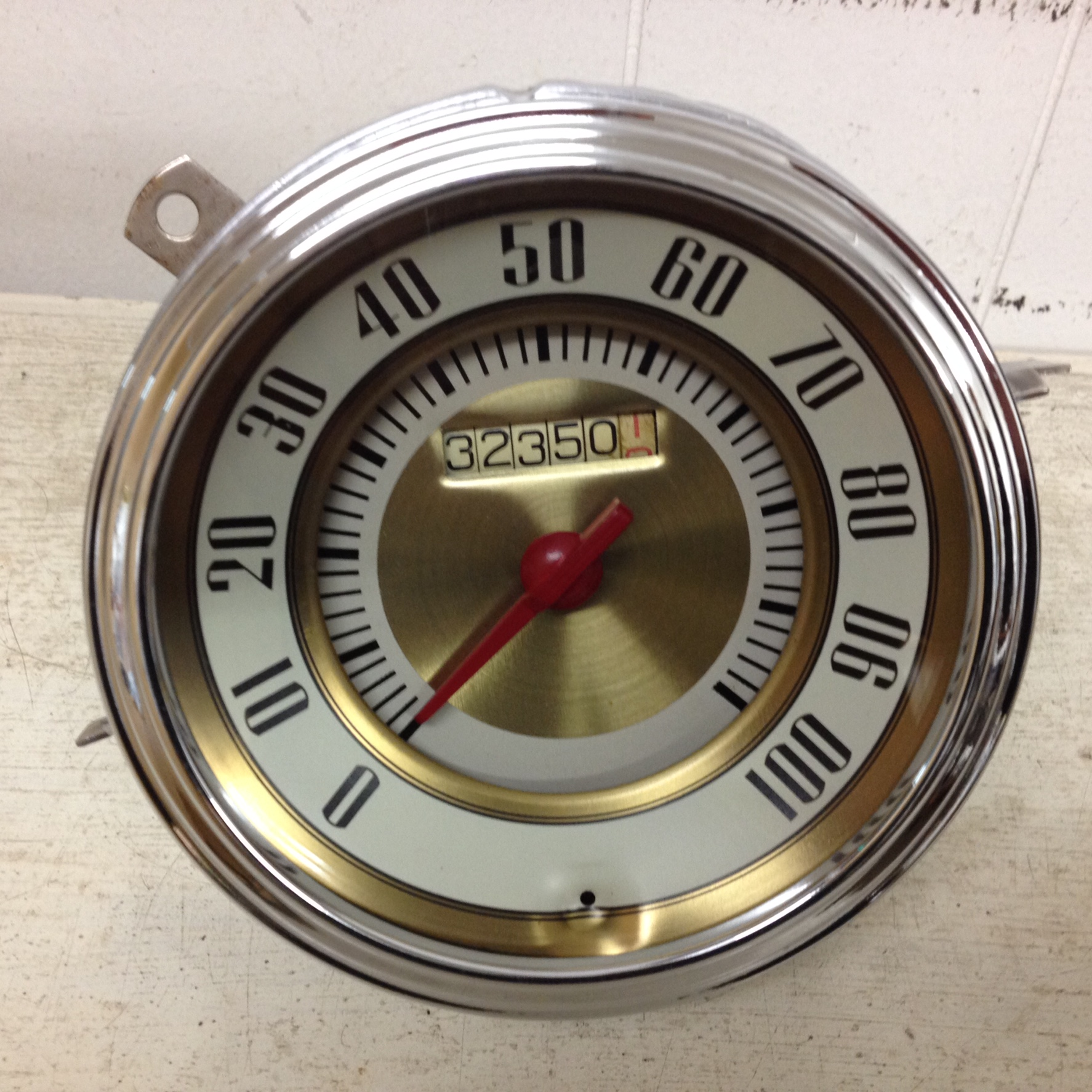 One of our beautifully restored speedometers